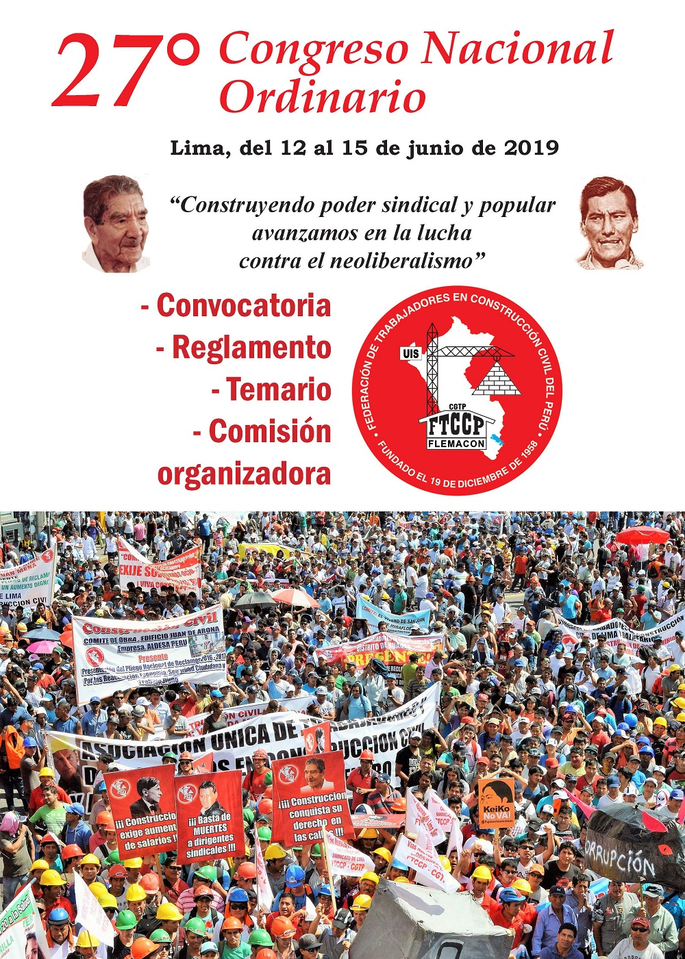27 Congreso Nacional Ordinario  Convocatoria